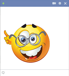 Geek smiley for Facebook