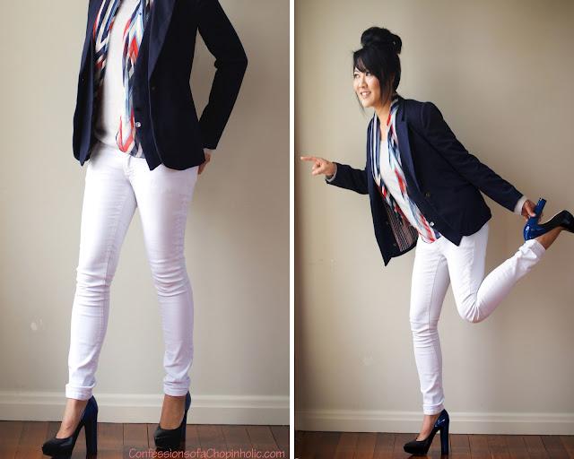 karen walker, factorie, factorie white jeans, karen walker, beau coup, nero electric blue, dione, jeans trend, 2013, white jean