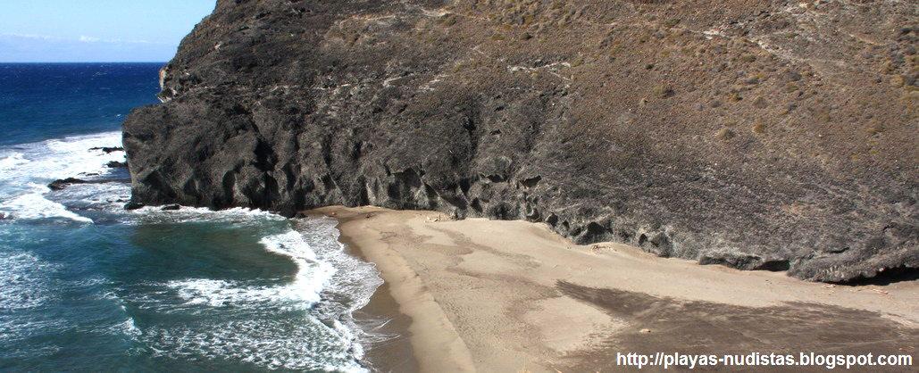 Nude beach Cala del Principe (Cabo de Gata, Almeria, Spain)