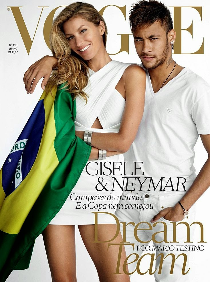 Gisele Bundchen and Neymar really have to flaunt it in our faces and they set out to prove this in a racy new shoots for June 2014 issue of VOgue Brazil.
