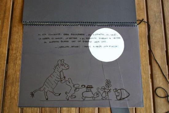 manualidad infantil libro lupa