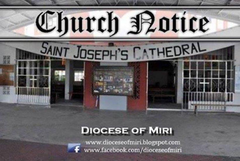 美里主教座堂佈告