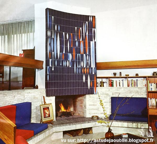 Haguenau - Villa  Architecte: René Heller  Céramique: Roger capron