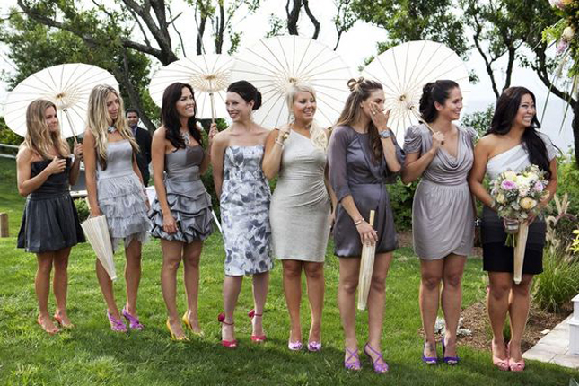 Wedding bridal hairstyles 2012 part 2 - The Secrets Of Successful Mismatched Bridesmaids Part 2