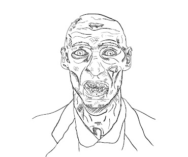 #13 Zombie Coloring Page