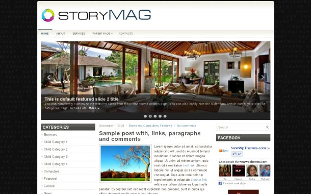 Matrix Black Jquery Free WordPress Theme Template
