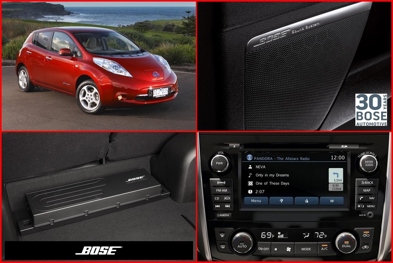 nissan leaf adds energy efficient bose stereo for 2013 s. Black Bedroom Furniture Sets. Home Design Ideas