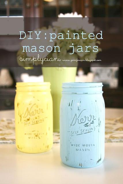 http://jenniferciani.blogspot.it/2012/07/diy-painted-mason-jars.html