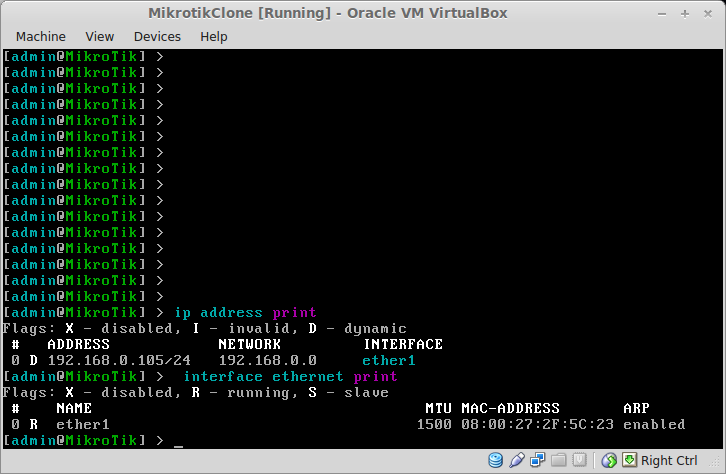 how to change ip address on linux running on virtualbox