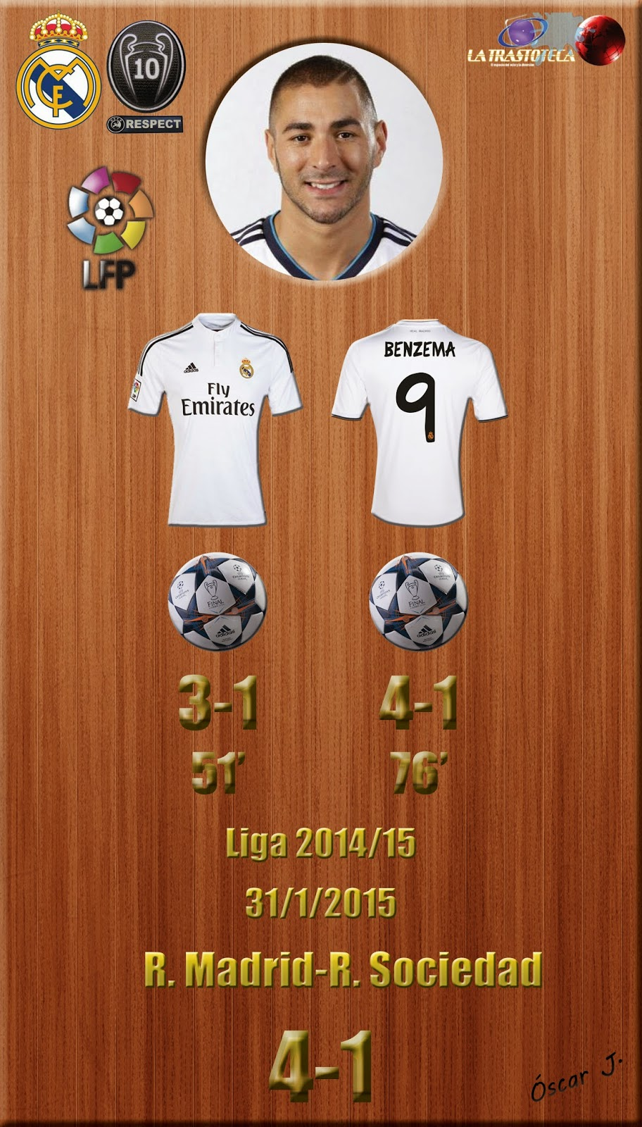 Real Madrid 4-1 Real Sociedad - Liga 2014/15 - Jornada 21 - (31/1/2015)