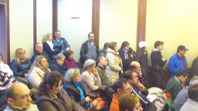 Publico asistente al pleno del mes de febrero
