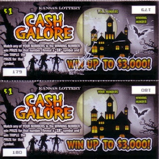 Kansas Halloween lottery tickets before