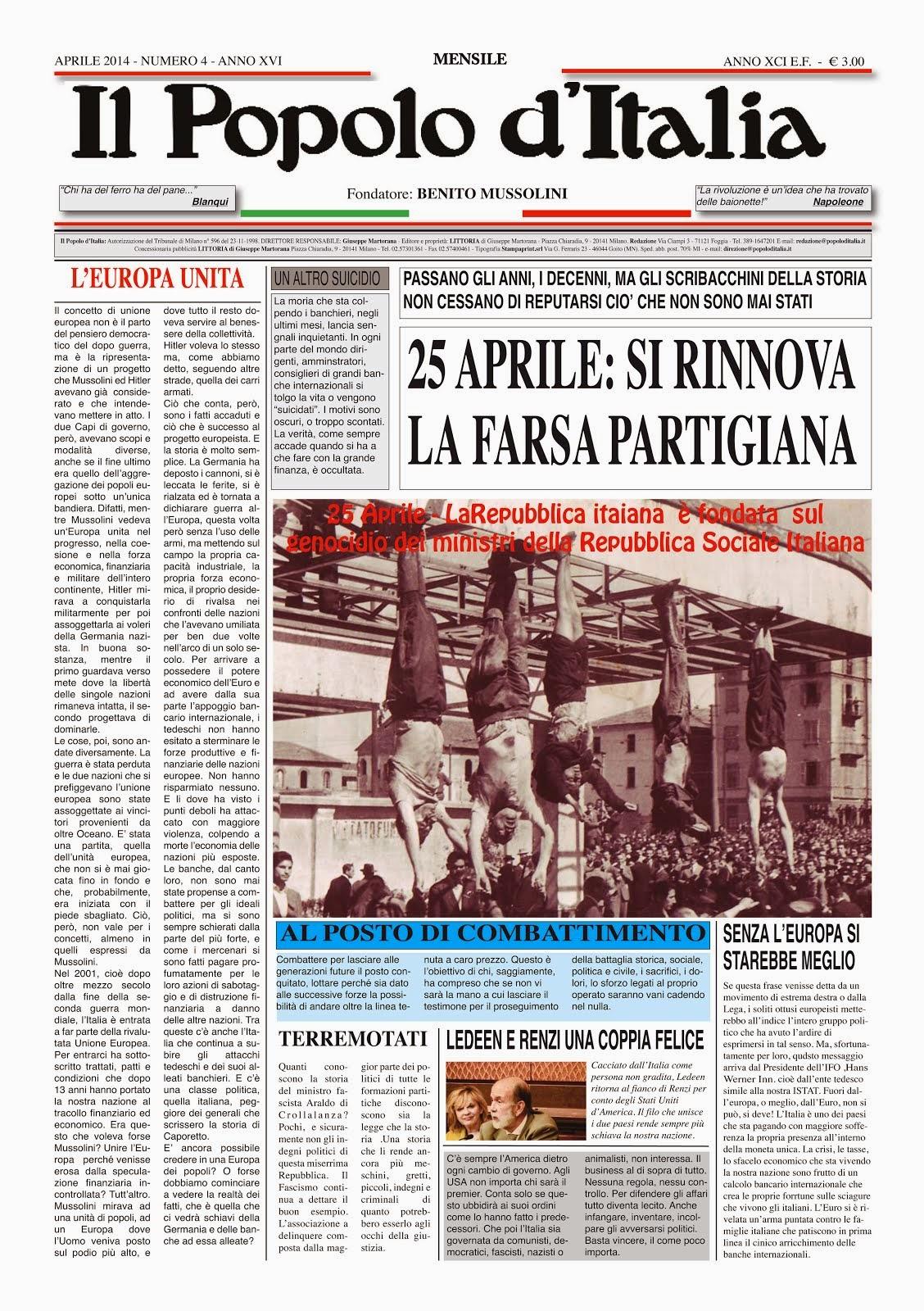 Il Popolo d'Italia Aprile 2014