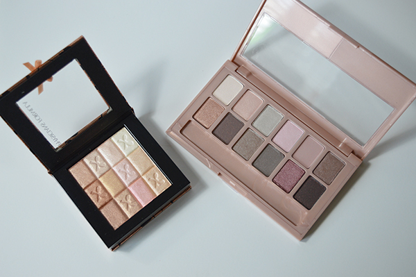 Maybelline blushed nudes palette and Physicians Forumula nude highlighter