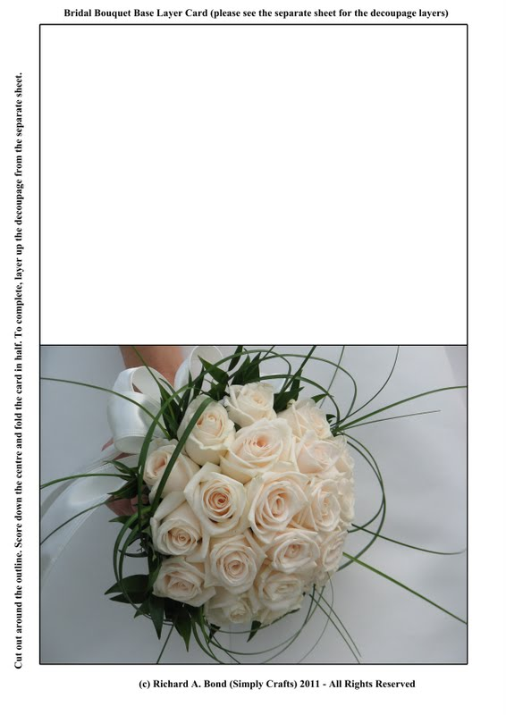 Bridal Bouquet Base : Simply crafts bridal bouquet base layer card click to