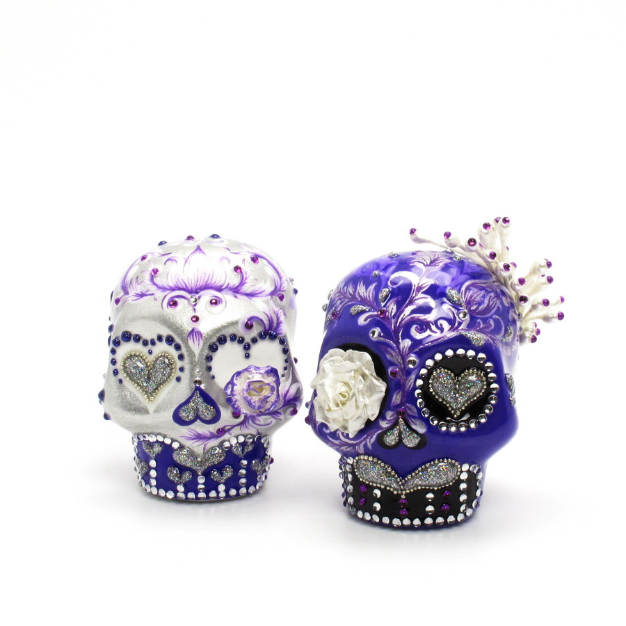 skull wedding cake toppers