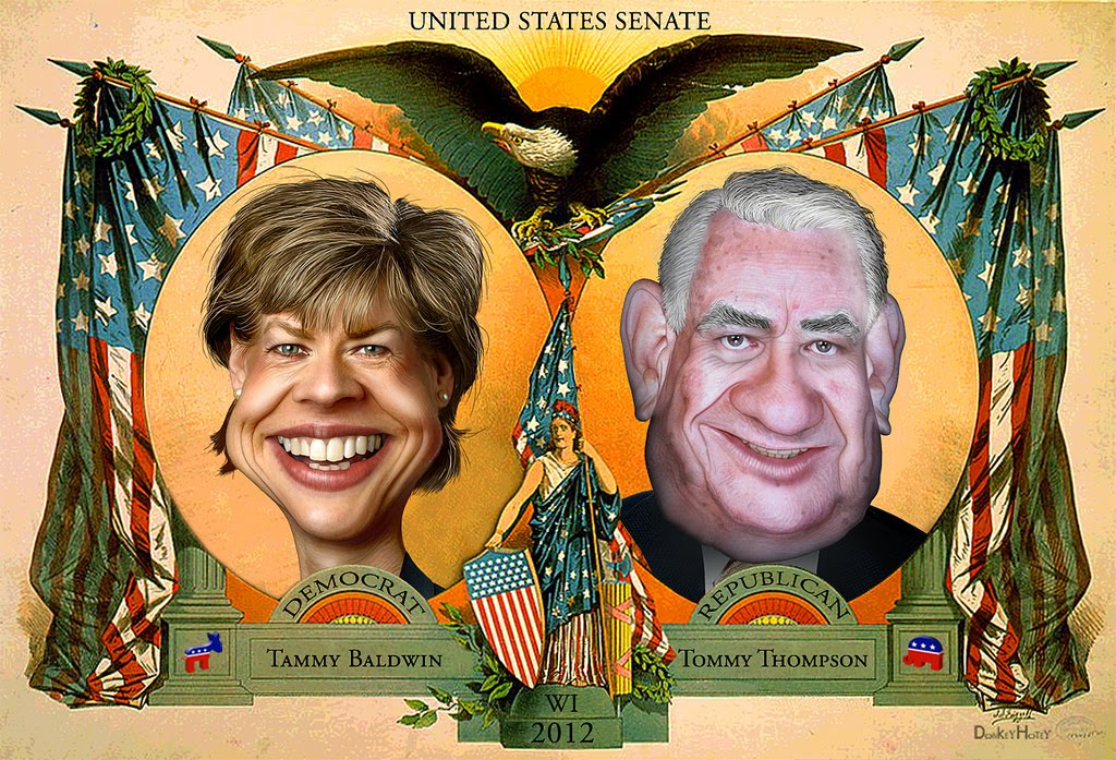 Tammy Baldwin and Tommy Thompson
