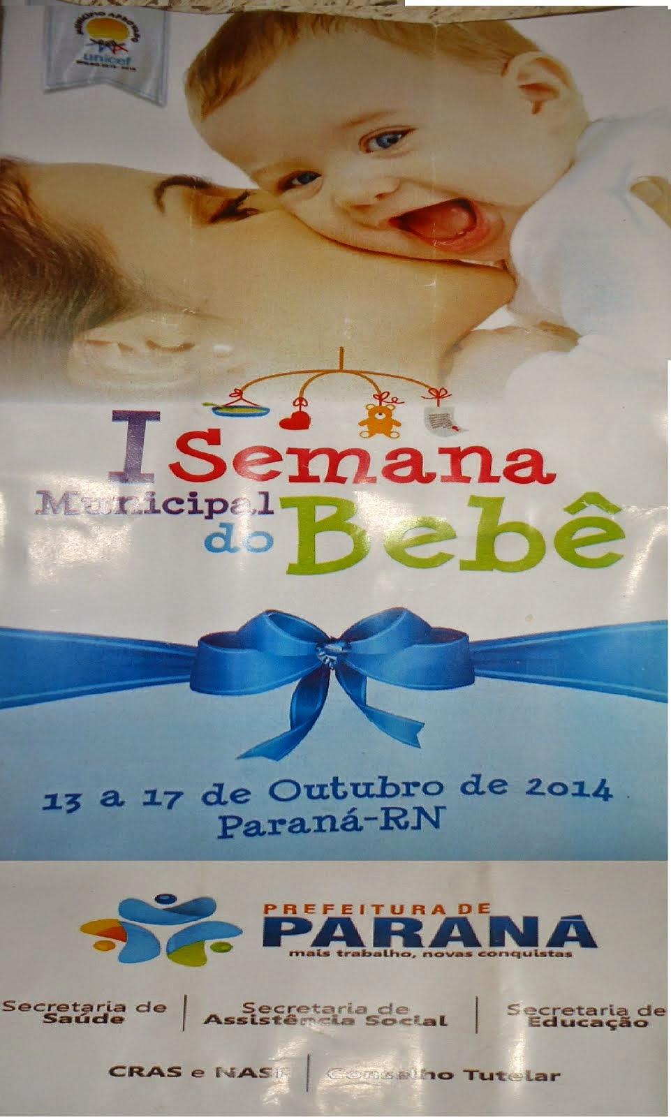 I Semana Municipal do bebê