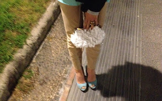 OUTFIT GREEN MINT- SHOES  BERSHKA