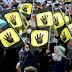 ممثلو طلاب 15 دولة يحتجون على قمع طلبة مصر