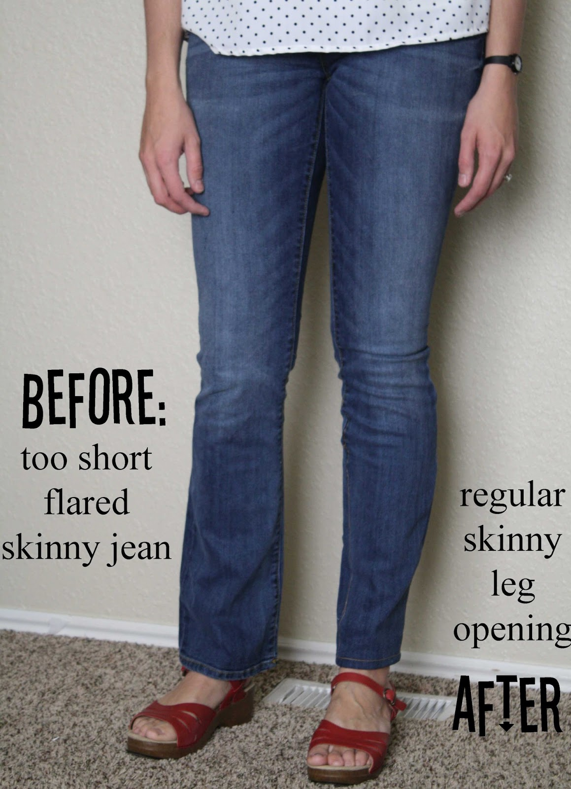 Running With Scissors: Clearance Skinny Jeans Refashion