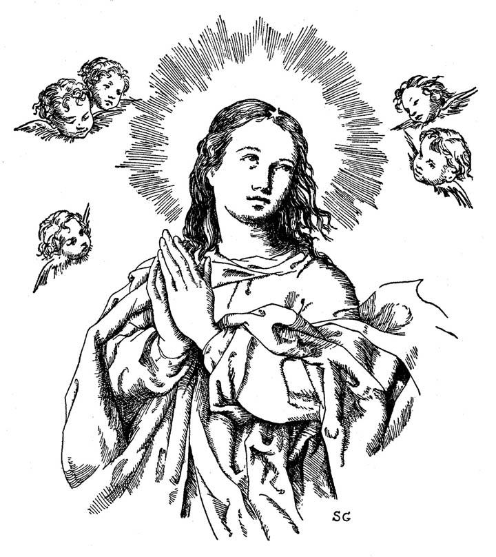 Compartiendo por amor: Dibujos Inmaculada Concepción
