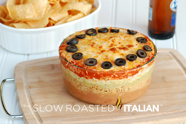 Layer Mexican Bean Dip is a favorite at every party we throw ...