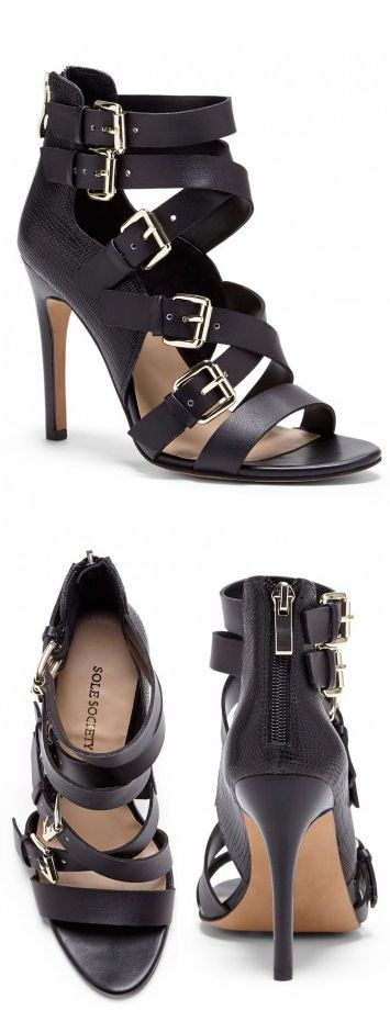 Strappy Multi Buckle Heels