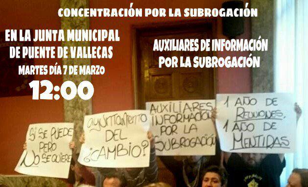7 marzo Concentración Despidos NO