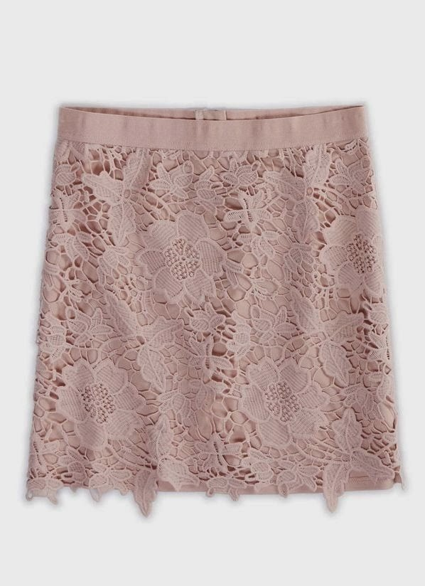 Beautiful blush floral lace skirt trend
