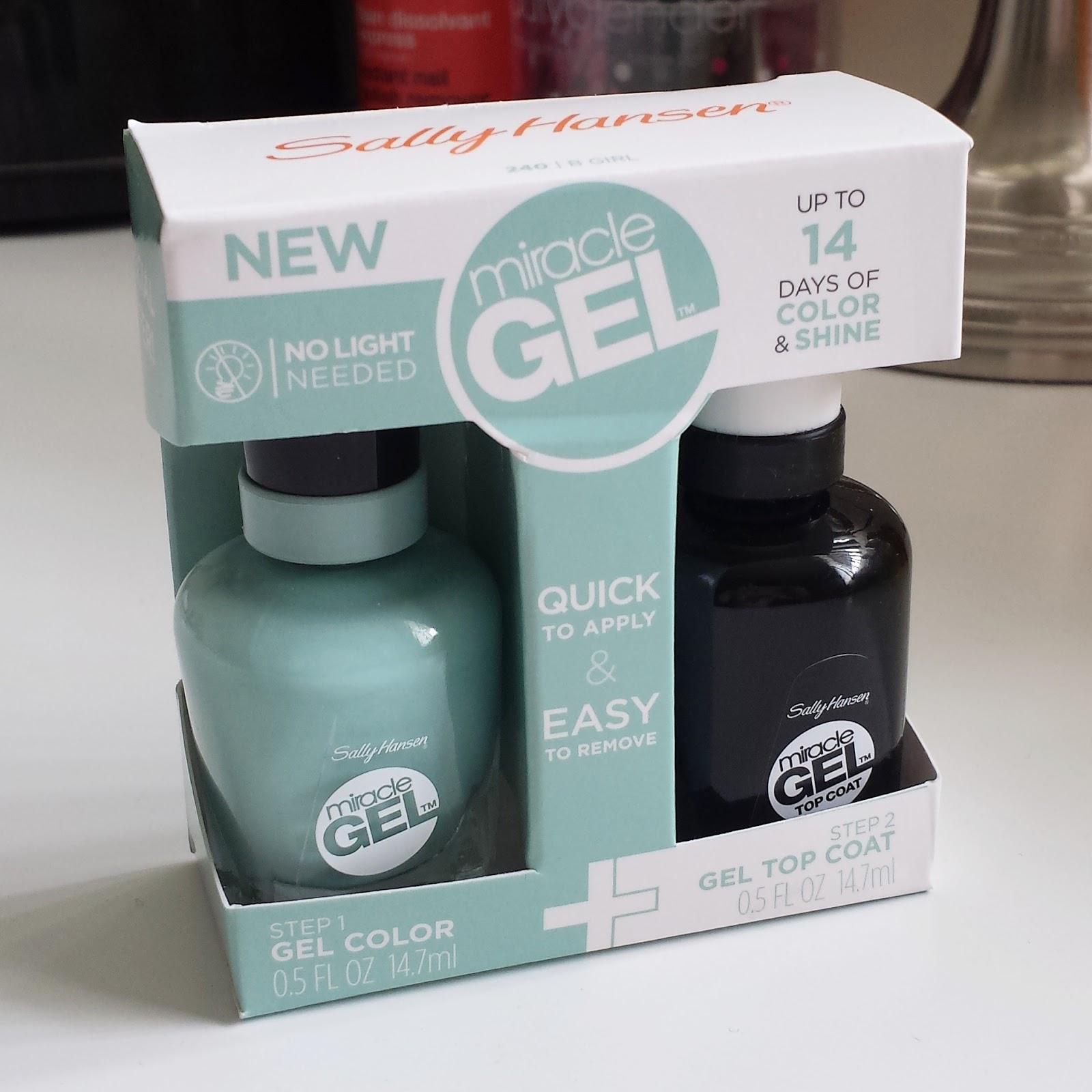 Sally hansen miracle gel nail polish in b girl review aquaheart