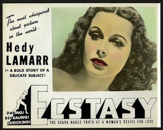 Cartel en lengua inglesa de la película, Extasis, 1933 de Machaty