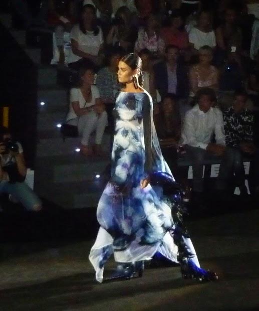 vestido gasa azul  Roberto Verino MBFWM