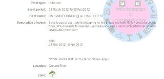 ALDO Bargain Corner Sale END 8 APR 2012