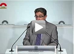 Roda de premsa de valoració intervenció Artur Mas al Debat de Política General