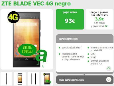 ZTE Blade Vec 4G con Amena