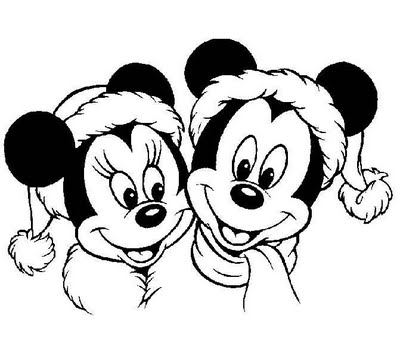 Lets Print A Picture Of Mickey And Minnie Mouse Following Then Invite Your Child To Color Surely Will Love Coloring The Cartoon Below