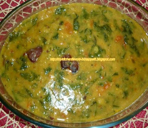 My Kitchen Flavors Bon Appetit Dhal Palak Lentil