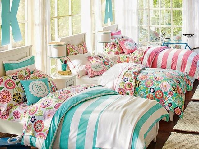 dormitorios para tres hermanas adolescentes colores en casa
