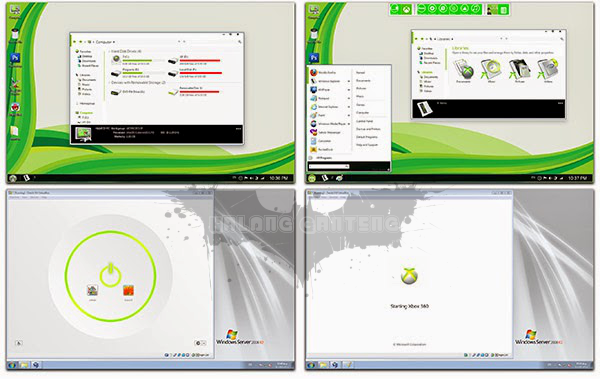 Screenshot metro Xbox skin pack hanya untuk windows 7