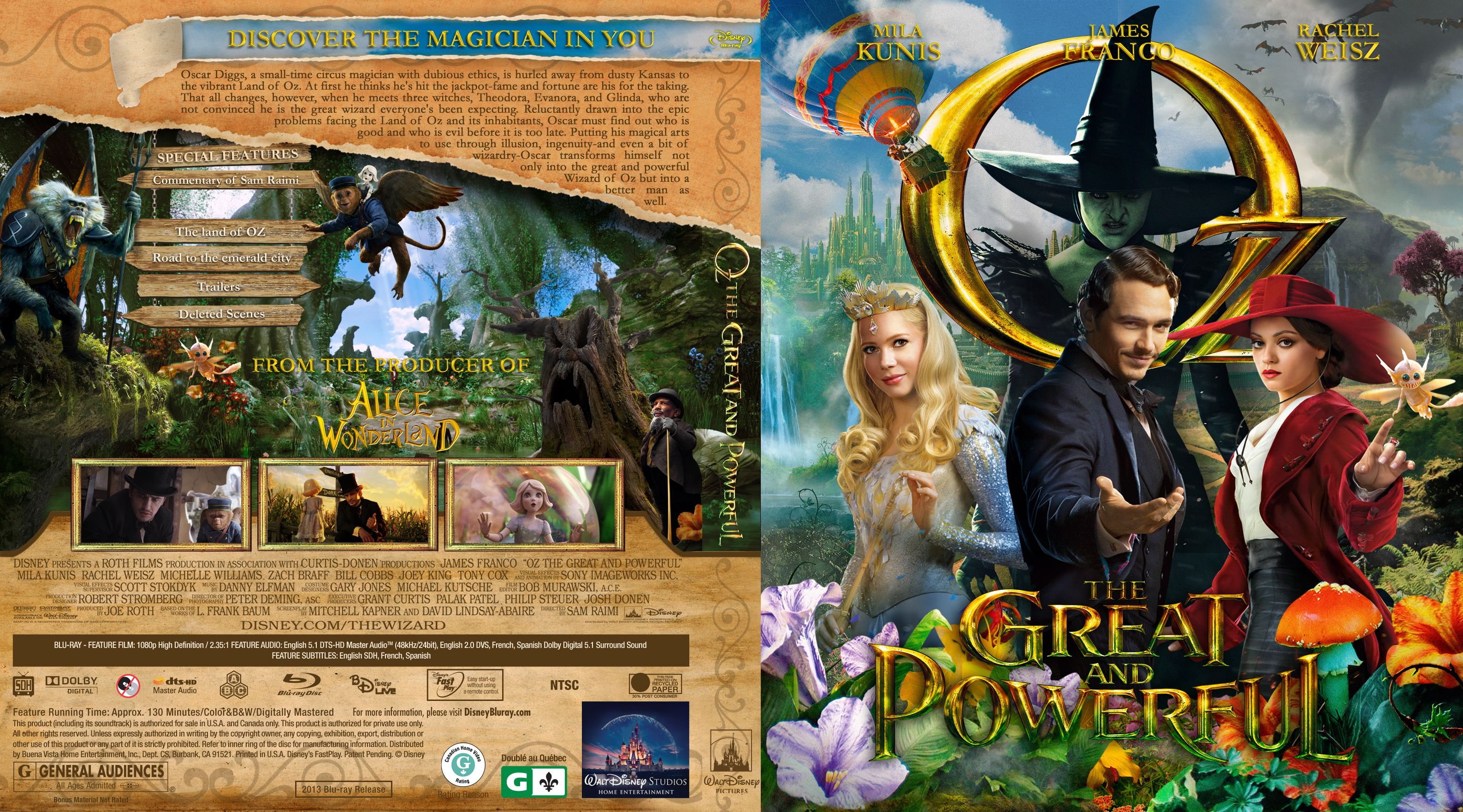 Capa Bluray Oz The Great And Powerful