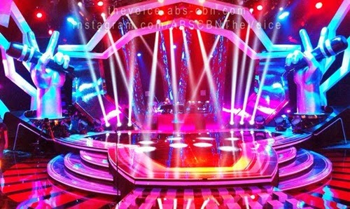 A grand set lighting and stage design for The Voice Kids PH