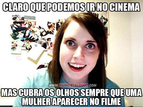 A origem: Meme namorada sinistra - Cobrir olhos mulher aparece cinema