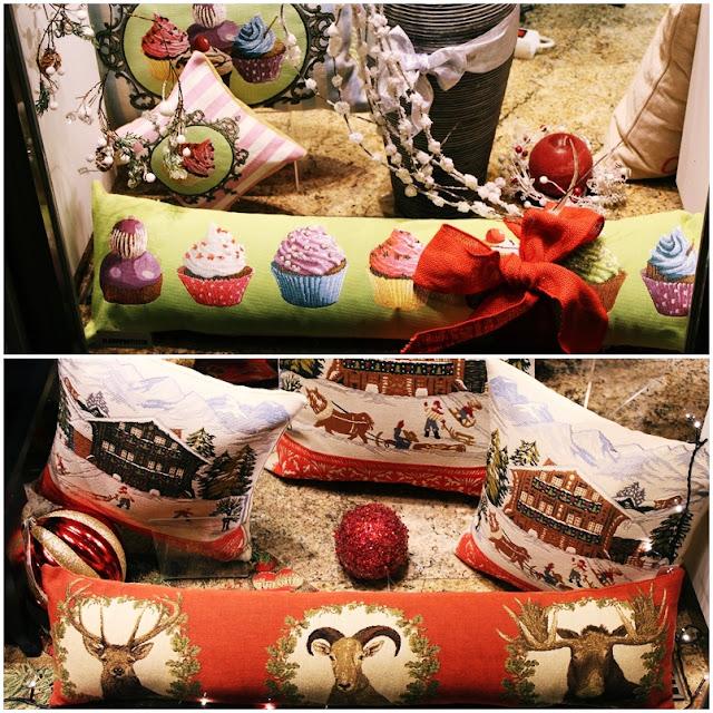 Cojines de cupcakes y navidad