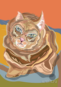 arte giapponese ricordo di mao gatto