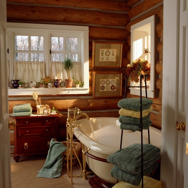 [An elegant and cosy bathroom]