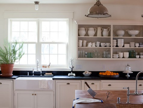 The Black Countertops Are So Attractive To Me And Look So Sharp With White  Cabinets. Take A Looksy.