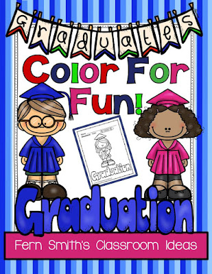 Fern Smith's Classroom Ideas FREE Graduation Color For Fun Printables.