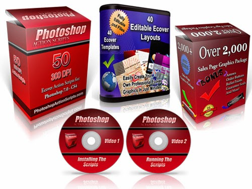 3d photoshop actions - ebook cover software
