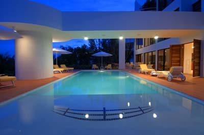 Beautiful swimming pools around the world modern house Longest house in the world